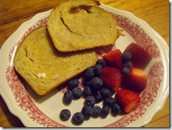 Breakfast Fruit and Toast
