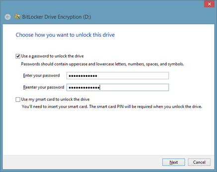 Password Protect A USB Drive