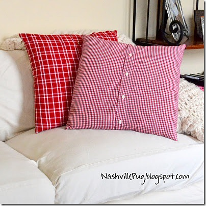 friday feature--shirt turned pillow cover