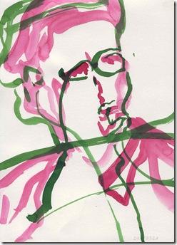 Naseen Kiliani Voegel III; Aquarell und Tusche; 29,7 x 21 cm