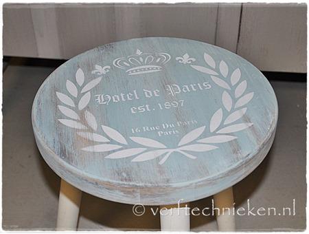 Verftechnieken.nl Krukje Hotel de Paris close