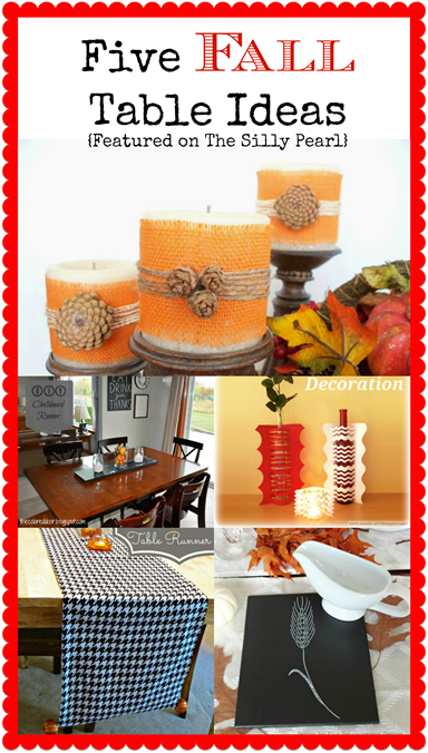 Five Fall Table Ideas Featured on The Silly Pearl