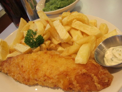 Regular Cod &amp; Chips w Mushy Peas