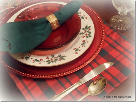 AWalk in the Countryside: Christmas Tablescape