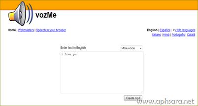 เวบไซต์แปลง text เป็น mp3