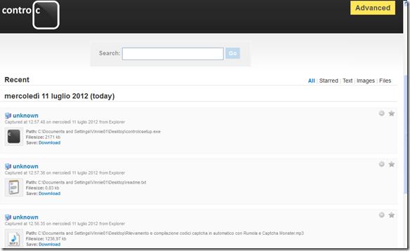 ControlC database