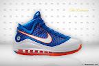 nike air max lebron 7 pe hardwood blue 5 02 Yet Another Hardwood Classic / New York Knicks Nike LeBron VII