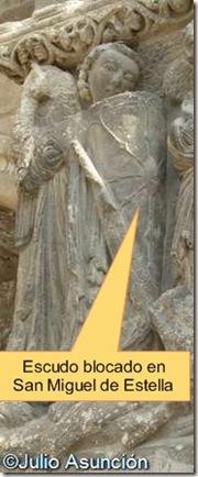 San Miguel de Estella - escudo blocado