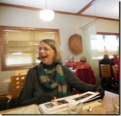 Joan laughing