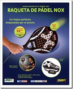 Gracias a NOX y al Periódico El Mundo Deportivo, consigue tu pala por 54,95 euros.