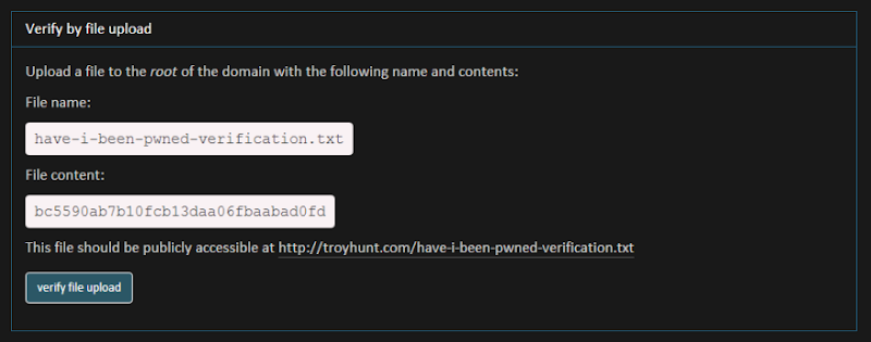 Name and contents for file upload verification