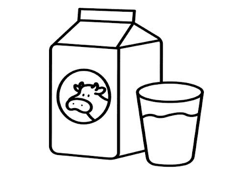 Derivados de la leche para colorear - Imagui
