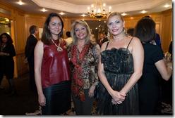Mercedes Castillo, Rosa Hernández de Grullón, embajadora delegada permanente ante la UNESCO; y Sabrina Brugal
