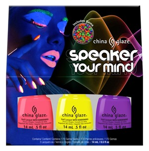 China Glaze Speaker Your Mind Kit with Nail Gems