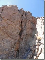 Saliendo de la sección cueva, diamente