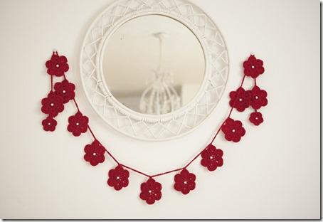 Red flower Garland