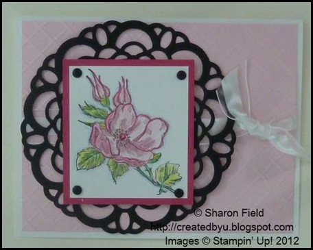 happiness shared and perfect die cut paper doily with diagonally scored background