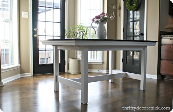 IKEA table to farmhouse table