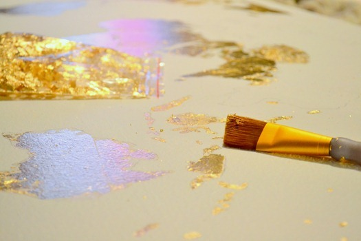 gold leaf application