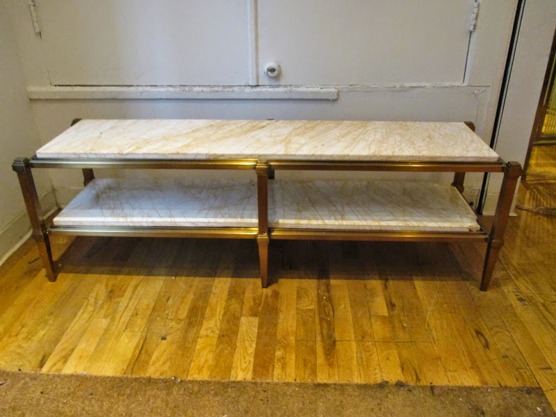 Two-tiered Marble Coffee Table
