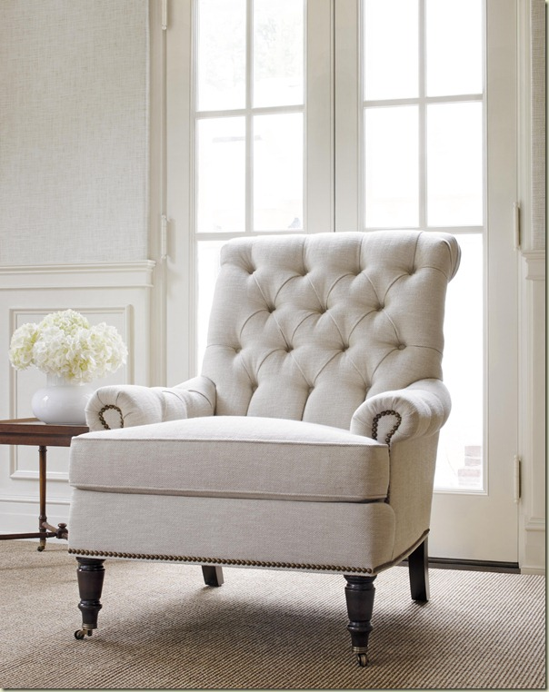 Cambridge Chair - Huntley Herringbone Cream - 7724–C33 - Thibaut Fine Furniture