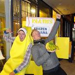 frozen bananas at Nuit Blanche 2014 in Toronto, Ontario, Canada