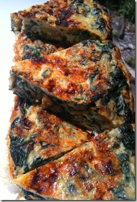 chickpea and silverbeet tortilla