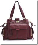 Diane von Furstenberg Burgundy Leather Tote