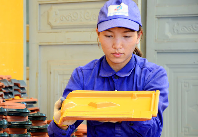 Ngói tráng men Gốm Đất Việt
