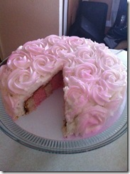 Pink Rose Cake with vertical layers 2