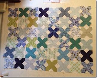blue green scrap quilt
