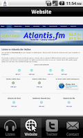 Screenshot of Atlantis.fm
