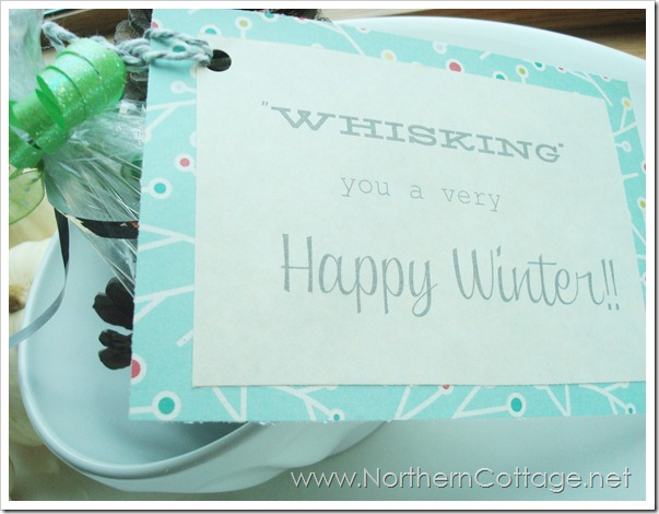 whisking a happy winter @ Northern Cottage.net
