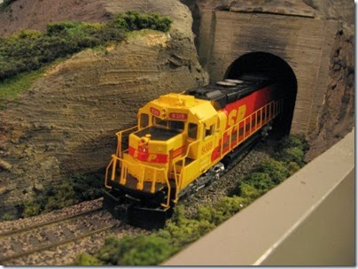 IMG_0451 Southern Pacific Kodachrome Tunnel Motors on My Layout on April 5, 2008