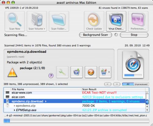 Avast Mac Edition Antivirus Gratis untuk Mac