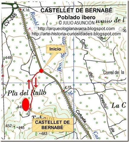 Mapa ruta Castellet de Bernabé