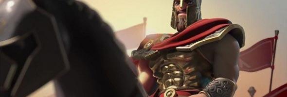 Imponente cavaleiro em age of empires online.