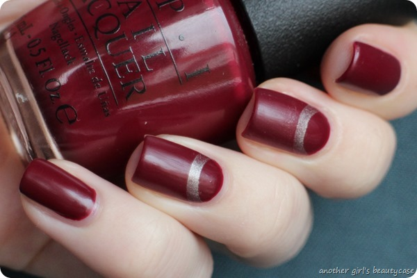 Novemberlackliebe Halbmond Half Moon Nailart OPI Just A Little Roesti At This (2 von 3)