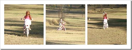 girls riding Collage