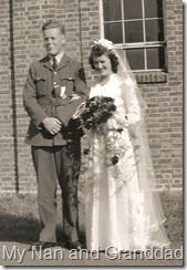 nan and granddad's wedding
