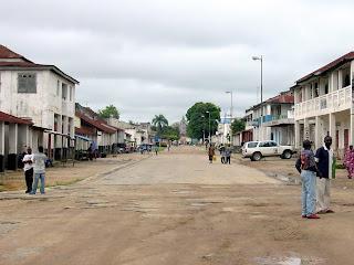 Une vue du centre ville de Kindu, chef-lieu de la province du Maniema (RDC). Ph. Panoramio.com