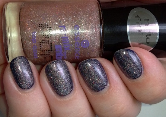 Essence Just Can't Get Enough over OPI Roadhouse Blues 3
