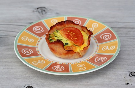 Ham, Egg and Zucchini Cups - Delish!