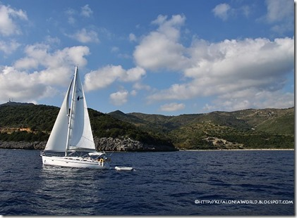Sailing in Kefalonia
