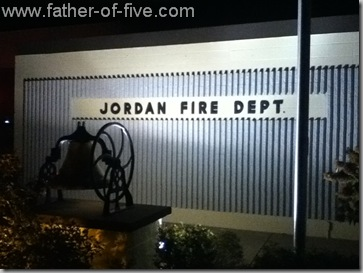 Jordan, Minnesota Fire Department at night