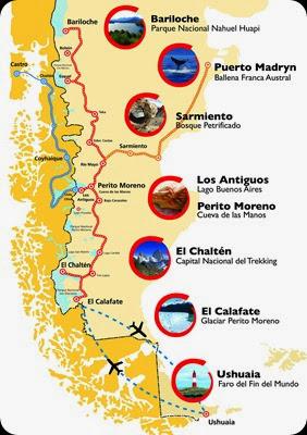 Ruta 40 mapa