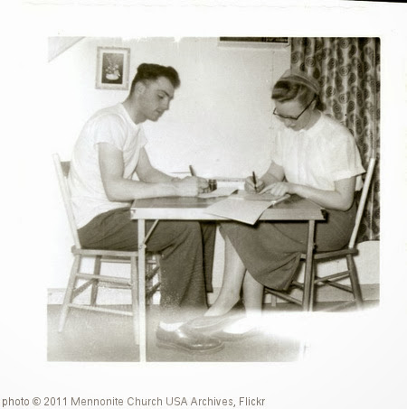 'Writing Home In Calling Lake Alberta' photo (c) 2011, Mennonite Church USA Archives - license: http://www.flickr.com/commons/usage/