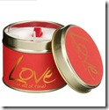 Lily Flame Love Candle in a Tin