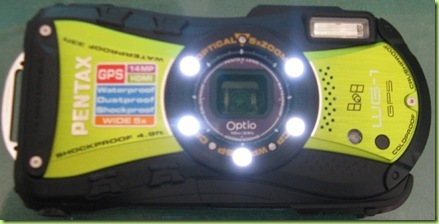 pentax optio wg-1 gps led