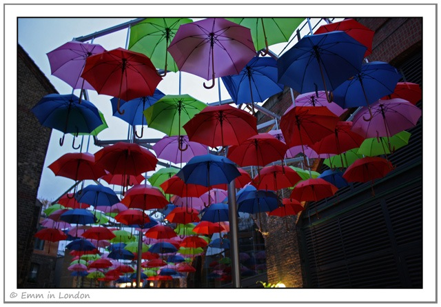 Umbrella Installation at Borough Market